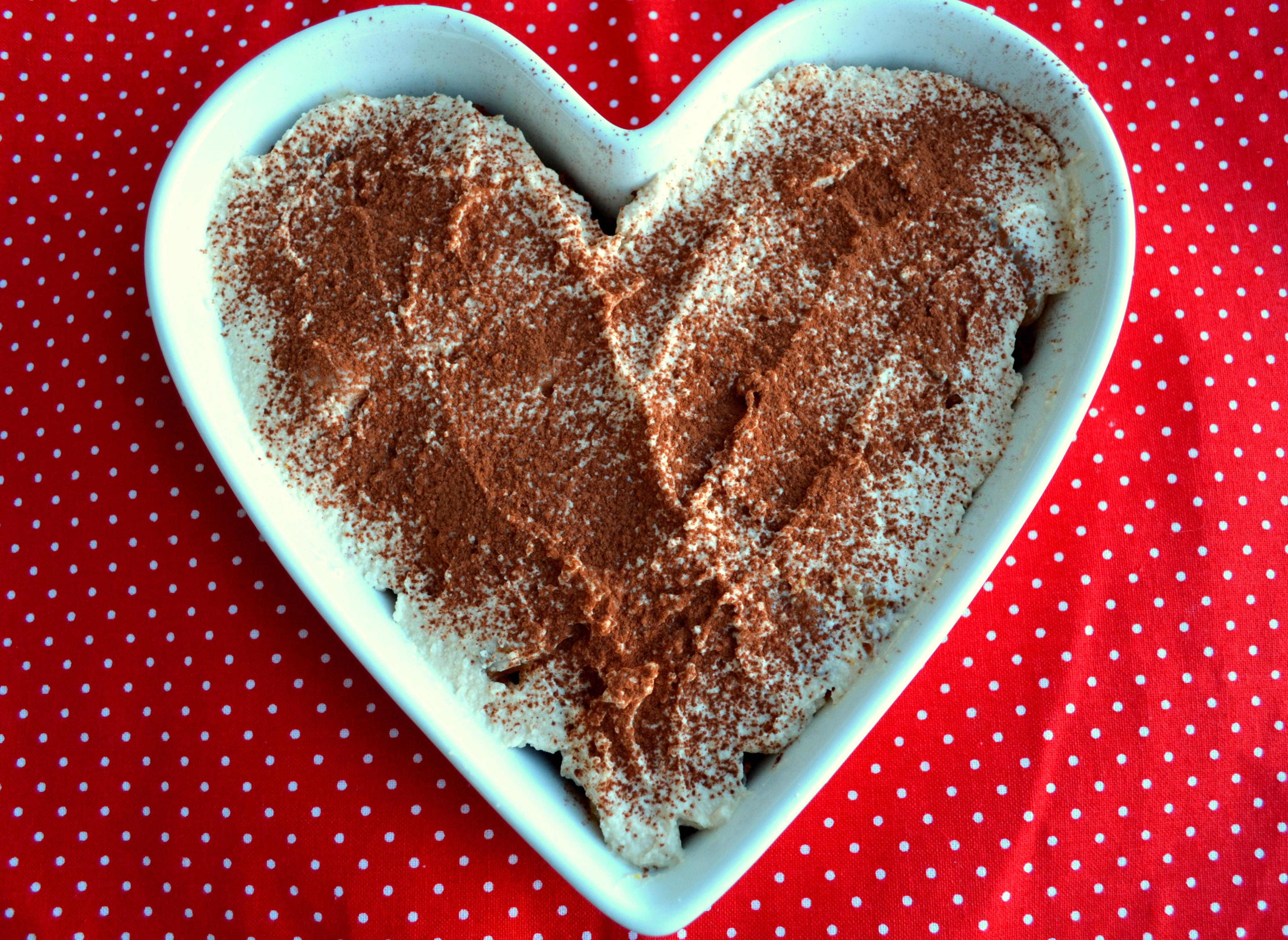 Schokoladen-Mandarinen-Tiramisu Herz