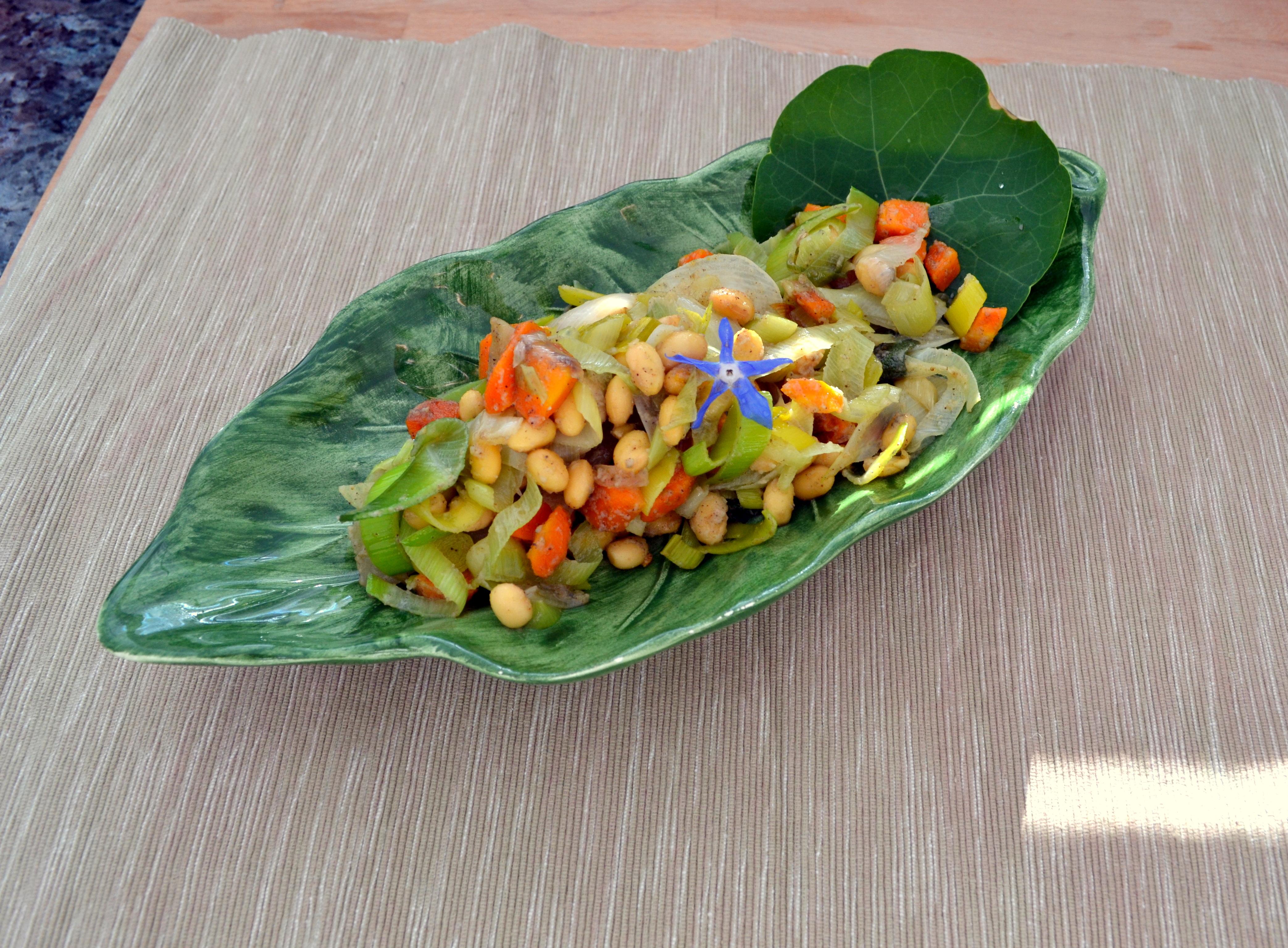 Sojabohnen-Gemüse mit Kokoscreme